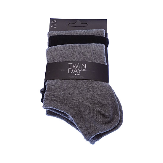 Chaussettes invisibles fines - coton stretch Homme Twinday Vue principale