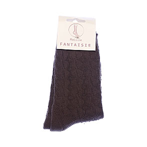 Chaussettes unies maille fantaisie