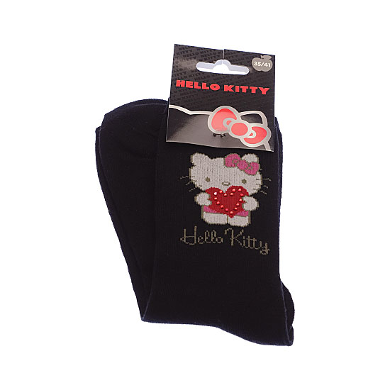 Chaussettes coeur strass Femme, Fille - Sanrio Hello Kitty Vue secondaire