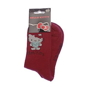 Chaussettes coeur strass Femme, Fille - Sanrio Hello Kitty Vue subsidiaire