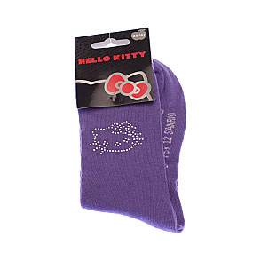 Chaussettes contour strass tête Hello Kitty