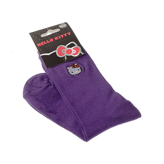 Chaussettes tête Hello Kitty broderie Femme, Fille - Sanrio Hello Kitty Vue secondaire