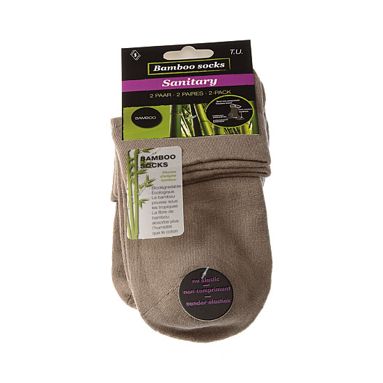 Chaussettes courtes bambou - bord non comprimant - sans couture Femme - Lady Bamboo sanitary InterSocks Vue principale