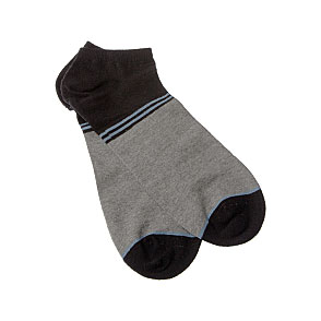 Chaussettes invisibles unis rayées Homme InterSocks Vue subsidiaire