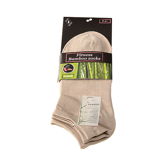 Chaussettes invisibles fibre naturelle de bambou - soyeuses Femme, Homme - Fitness bamboo socks InterSocks Vue principale