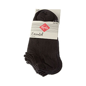 Chaussettes invisibles - coton - Oeko Tex