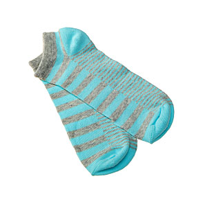 Chaussettes invisibles rayées pastel Femme, Fille Twinday Vue subsidiaire
