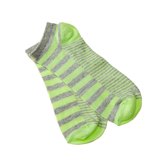 Chaussettes invisibles rayées pastel Femme, Fille Twinday Vue additionnelle