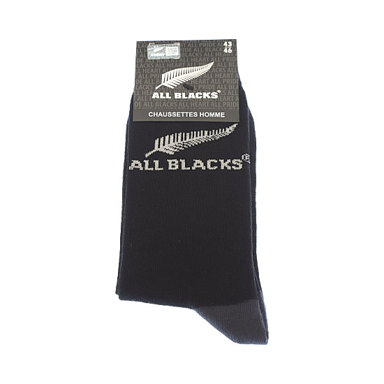 Chaussettes fines motif silver fern Homme - New Zealand Rugby Union All Blacks Vue principale