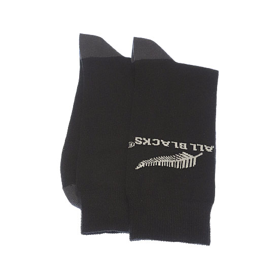 Chaussettes fines motif silver fern Homme, Garçon - New Zealand Rugby Union All Blacks Vue annexe