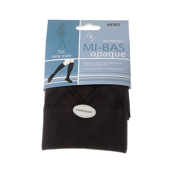 Mi bas opaque - maille fantaisie - bord confortable Femme InterSocks Vue principale