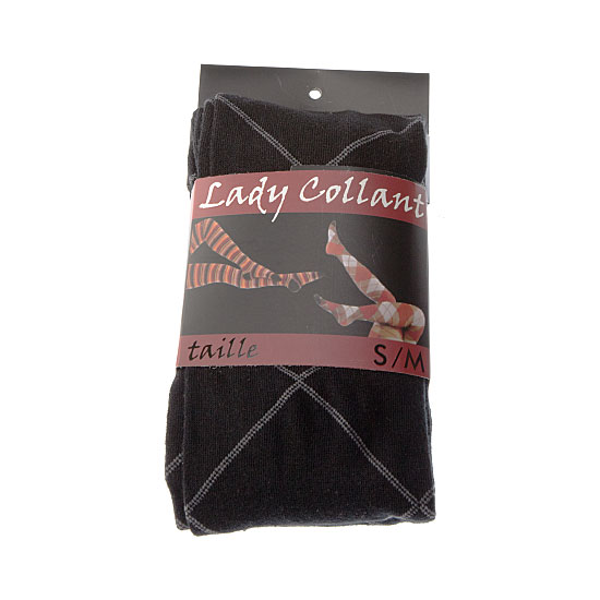 Collant coton motifs carreaux larges Femme - Lady Collant InterSocks Vue principale