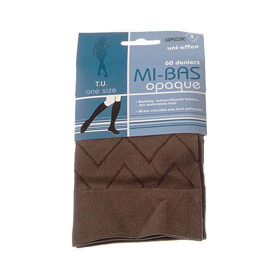 Mi bas opaque - motif chevrons - bord confortable Femme InterSocks Vue principale