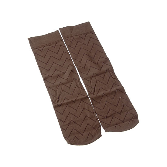 Mi bas opaque - motif chevrons - bord confortable Femme InterSocks Vue additionnelle