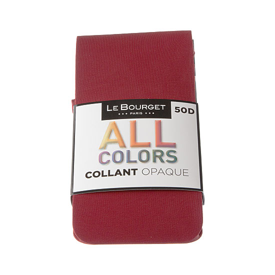Collant opaque de couleur - coutures plates - gousset Femme - All Colors Le Bourget Vue principale
