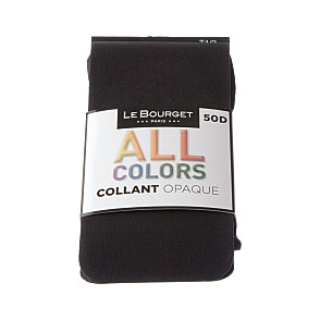 Collant opaque couleur mode - coutures plates - gousset