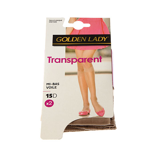 Mi bas voile transparent - bord confort  Femme - Quotidien Golden Lady Vue principale