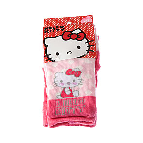 Collant coton - motif tête hello kitty et pois