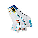 Chaussettes courtes fines multisport - rayures verticales - bord côte