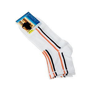 Chaussettes courtes fines multisport - rayures verticales - bord côte Homme InterSocks Vue subsidiaire
