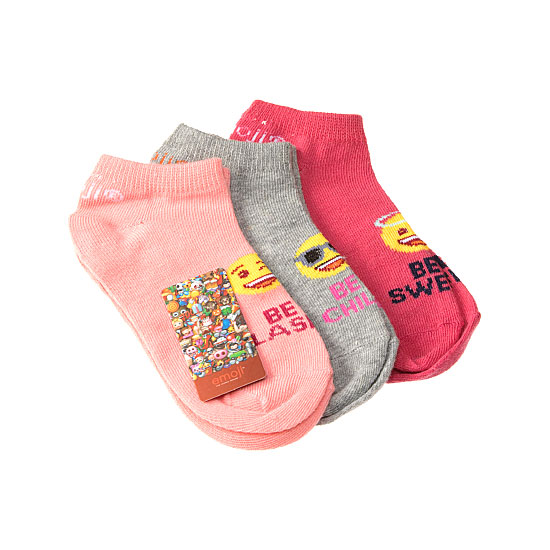 Chaussette invisible motif icone Femme, Fille - The Iconic Brand Emoji Vue annexe