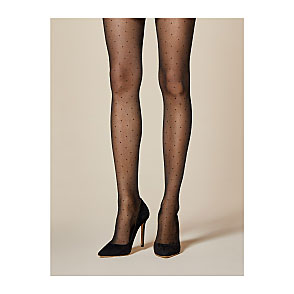 Collants transparents plumetis