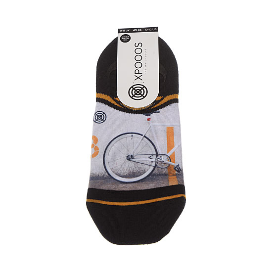 Chaussette invisible motif vélo Homme - Fixed gear Xpooos Vue principale