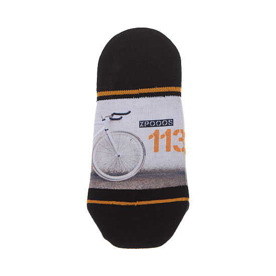 Chaussette invisible motif vélo Homme - Fixed gear Xpooos Vue annexe