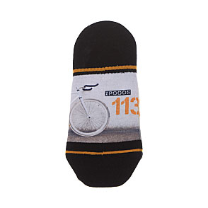 Chaussette invisible motif vélo Homme - Fixed gear Xpooos Vue subsidiaire