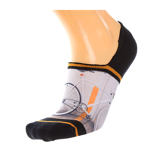 Chaussette invisible motif vélo Homme - Fixed gear Xpooos Vue auxiliaire