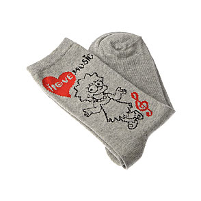 Chaussettes Lisa - I love music Femme, Fille - Ladies of Springfield Simpsons Vue subsidiaire