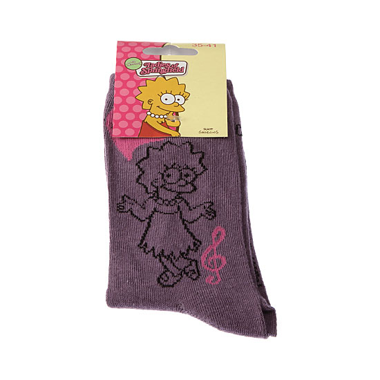 Chaussettes Lisa - I love music Femme, Fille - Ladies of Springfield Simpsons Vue principale