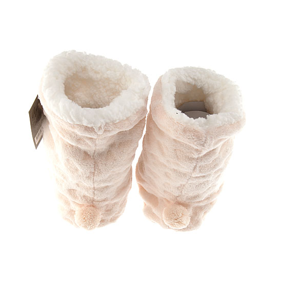 Chaussons animal 3D Femme, Fille - Ladies Softy Booties 3D Apollo Vue annexe