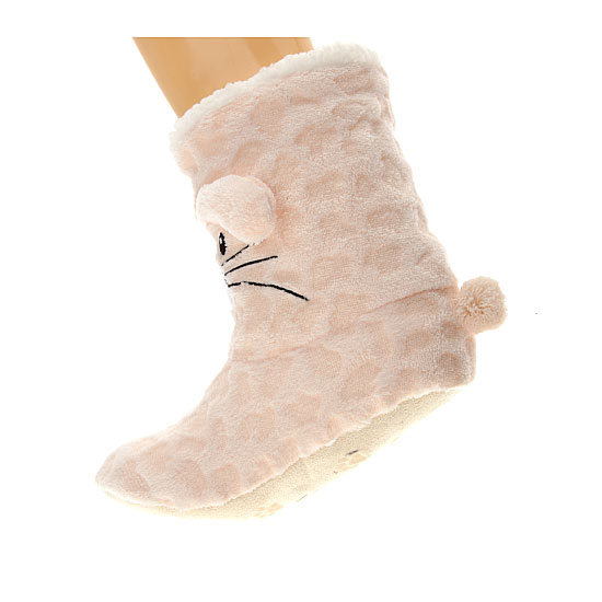 Chaussons animal 3D Femme, Fille - Ladies Softy Booties 3D Apollo Vue additionnelle