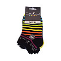 Chaussette invisible - rayures multicolores