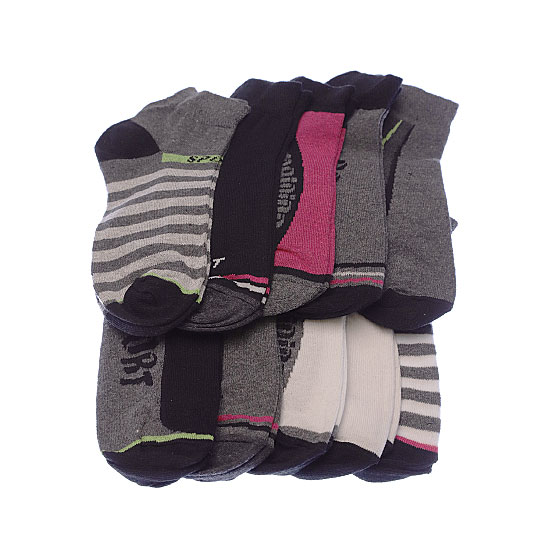 Chaussettes invisibles multisport - bord maille piquée Femme, Fille - Lady Trainers Socks SSTSA Vue annexe