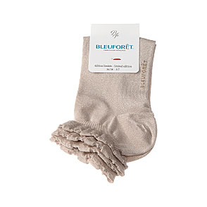 Mini sox bord côte volants - lurex et viscose