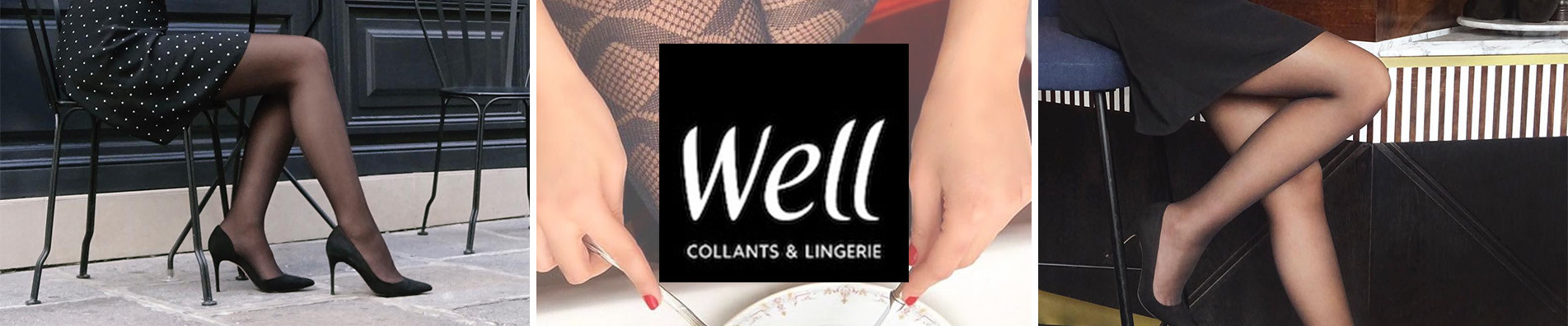 Collants Well, Collants Femme transparent, opaque, classique - M.D.C.