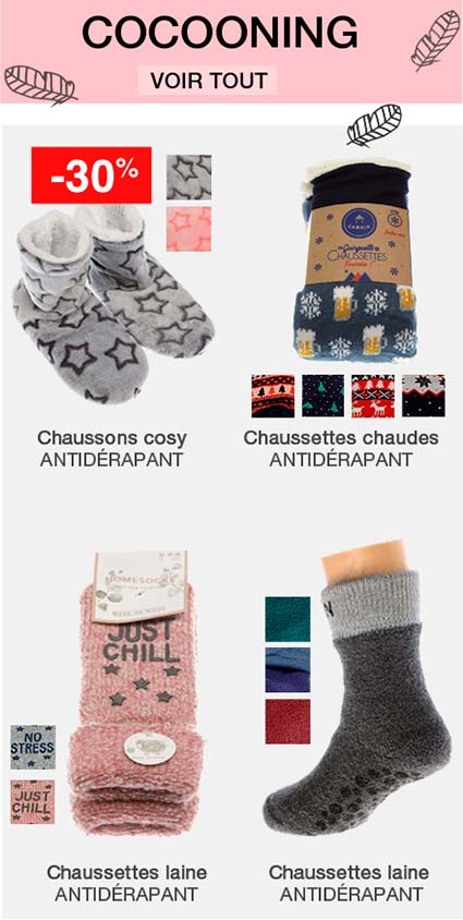 chaussettes cocooning